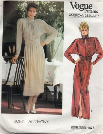 Vogue 1478 vintage john anthony design dress pattern size 10 uncut 6842eab0