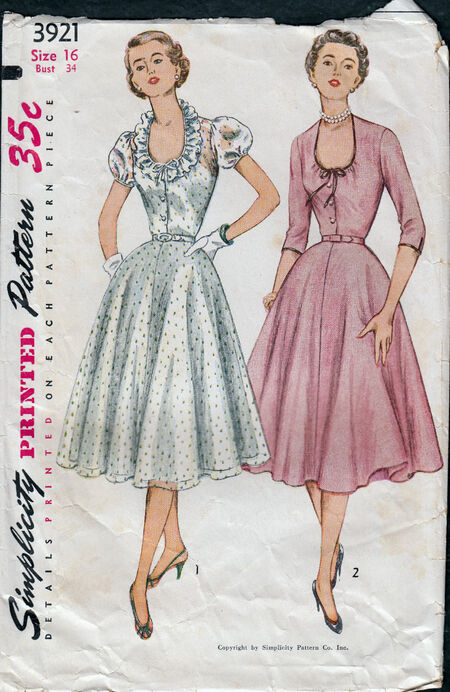 Vintage 1950s dress pattern from Penelope Rose at Artfire (3)