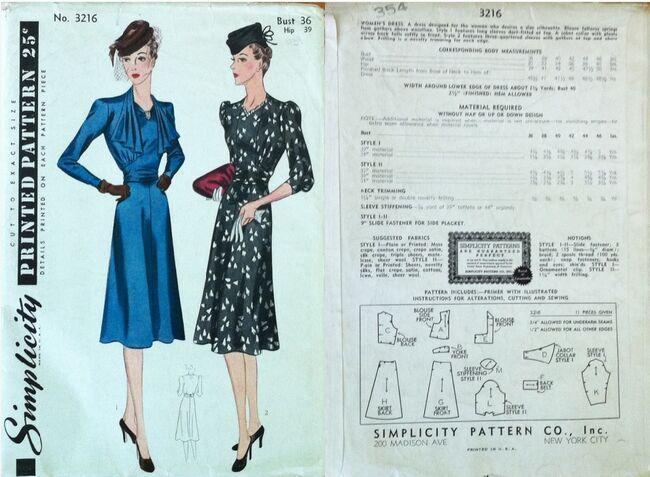 Simplicity 3216 1939