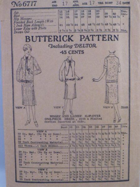 Butterick 6717