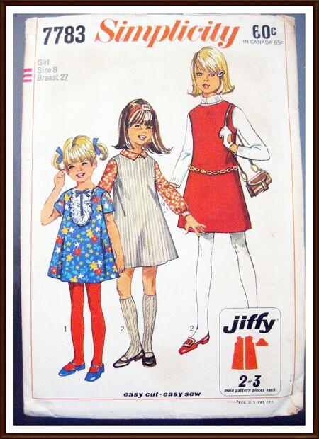 SIMPLICITY Pattern 7783 Girls Dress Jumper Size 8