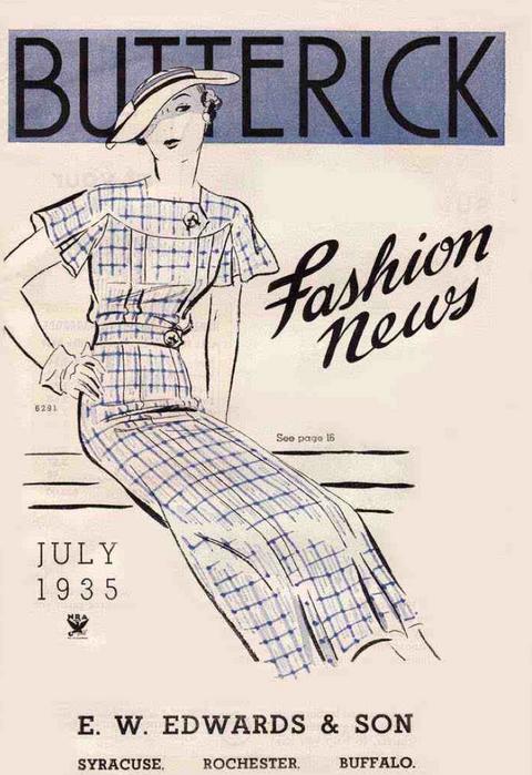 Butterick Fashion News July 1935