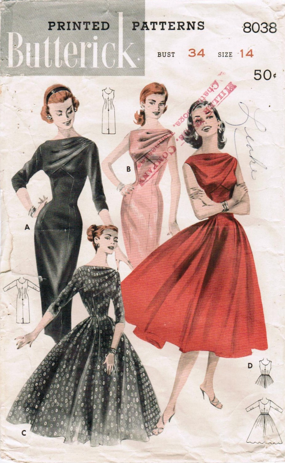 Butterick 8038 Vintage Sewing Patterns Fandom Powered