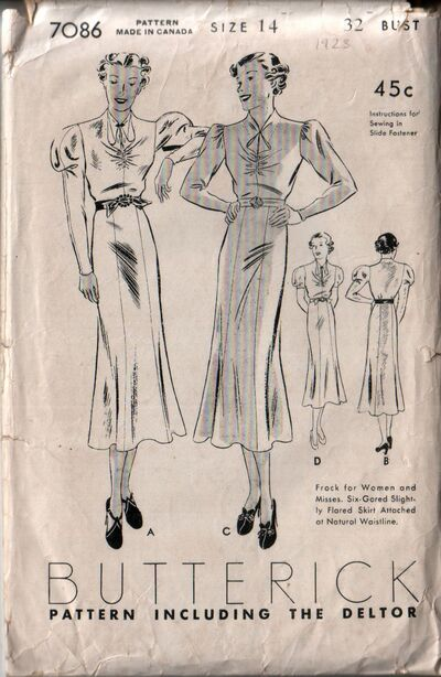 Butterick 7086 front