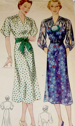 1930s Simplicity 2416 dress pattern image