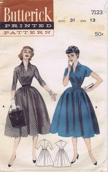 Butterick 1955 7123