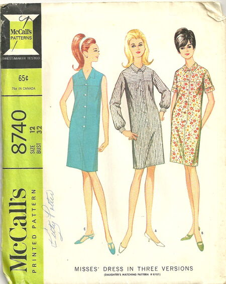 McCalls 8740 Dress in Three Versions