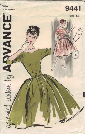 1950s advance dress