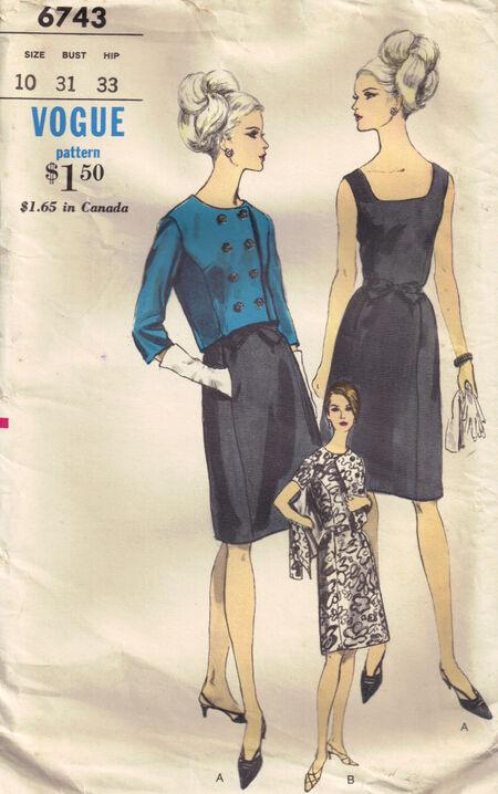 C1966 6743 Vogue Dress, Jacket