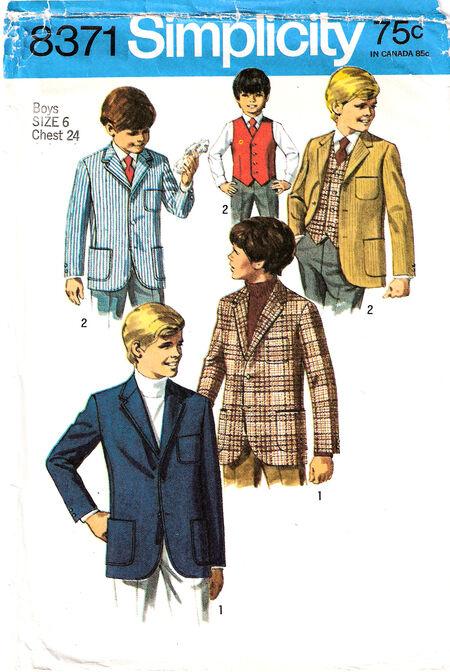 1969 Boys Jacket & Vest cropped