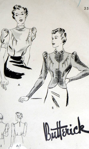 Butterick 8097 1930s blouse pattern image
