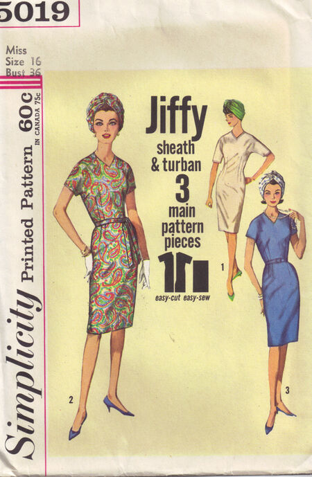C1964 5019 Simplicity Dress