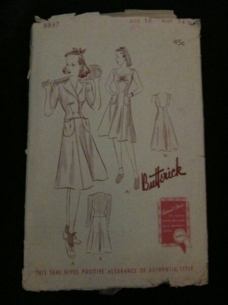 Butterick 8837 A image