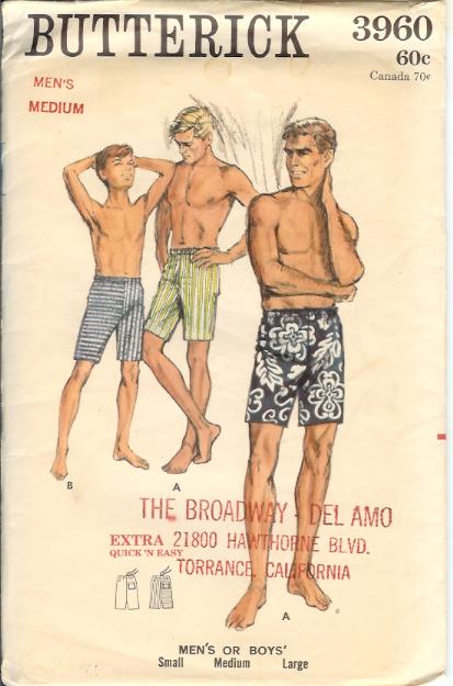 3960b 1960s menshorts