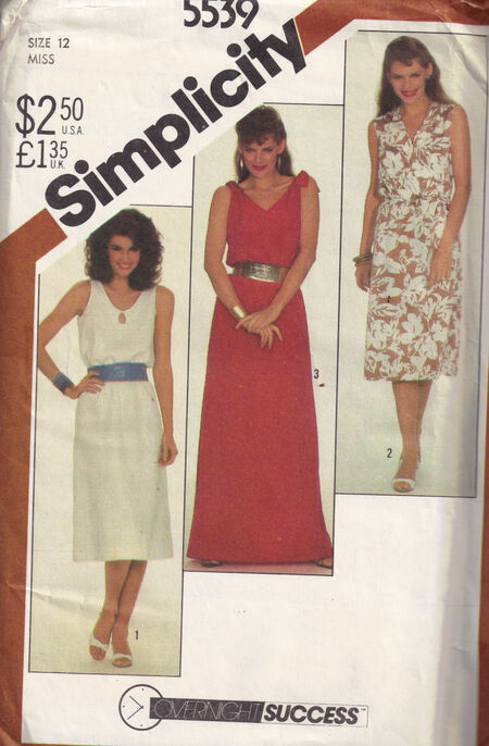 Simplicity 5539 c1982