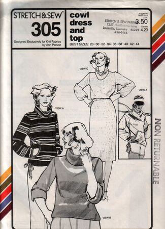 Stretch-and-sew 305 front