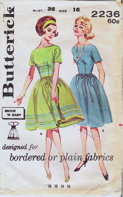 1950's Butterick 2236 front
