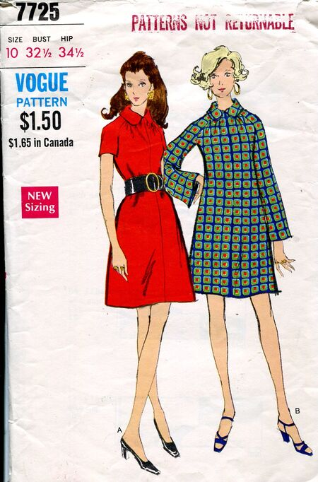 Vogue 7725 dress pattern 70s (2)