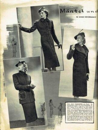 Praktische Damen und Kinder Mode 1938 0004
