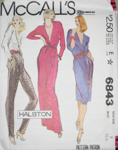 HALSTON McCalls 6843