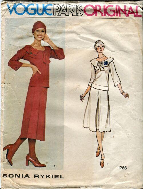 Vogue 1266 pattern sonia rykiel vtg 14 1