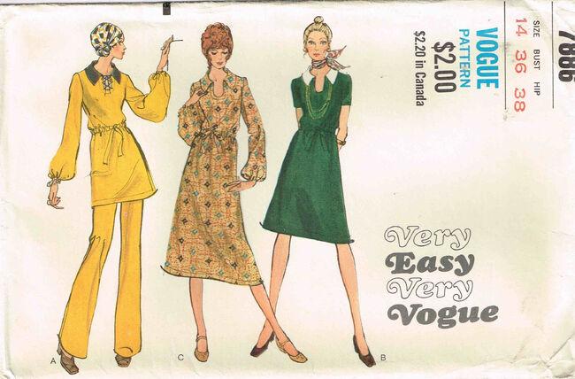 C1970s 7886 Vogue Dress