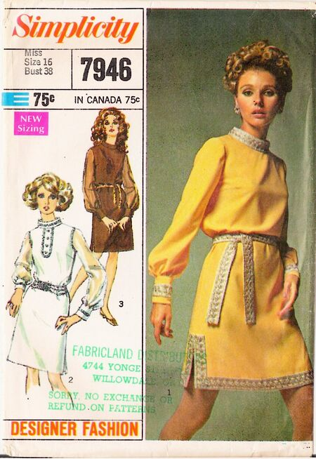 1960's Simplicity 7946 front