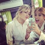 Cande and Tini selfie