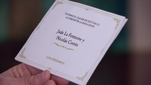Jade and Nicolás wedding invitation