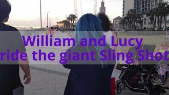 William and Lucy ride the Sling Shot in Daytona Beach!!