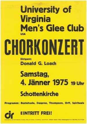 Glee Club 1974-1975 Poster 1975 01 04