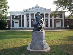 Old Cabell Hall and Homer University of Virginia