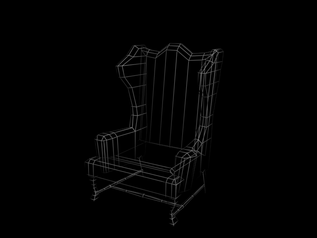 File:Wing back chair wireframe.jpg