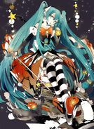 Hatsune Miku Halloween Party Poster
