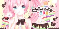 레인보우 초콜릿 케이크 (Rainbow Chocolate Cake)