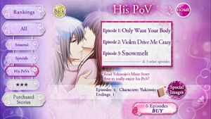 His POV - Main Story - Yukinojo - Profile