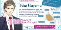 Taku Hayama/Character