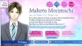 Makoto Morimachi character description (1)