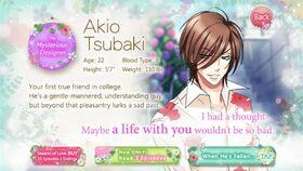 Akio Tsubaki character description (1)