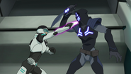 S2E03.140. Shiro and intruder at a stalemate