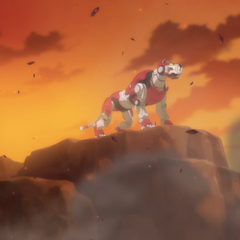 Keith's vision of the Red Lion while undergoing the trials of Mamora.