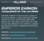 Official stats - Zarkon