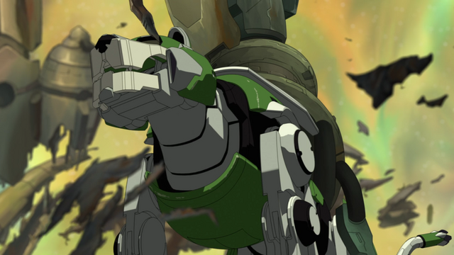 File:S2E01.251. Green Lion waiting to activate dish.png