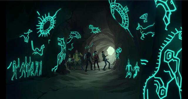 File:Blue Lion carvings awaken for Lance - full cave.png