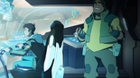 128. Hunk freaking out while Lance pilots (study cockpit) 2