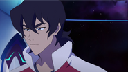 S2E08.24. Keith's eyes narrow after Lance tells him to chill