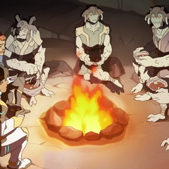 From left: Hunk, Coran, Shay's grandmother, Shay, her mom, and her dad.