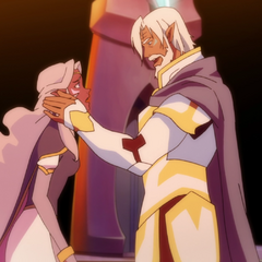 King Alfor before he performs the Vulcan nerve pinch on Allura.