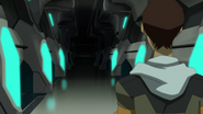 127. Lance's pov down corridor as the lights go out
