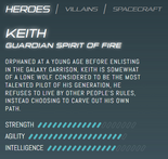 Official stats - Keith